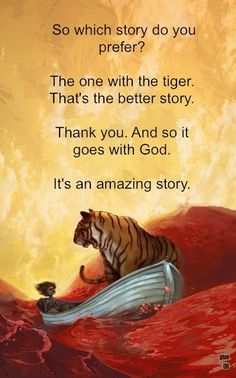 which is the better story the life of pi essay Life of pi literary analysis – sample body section i worked with the topic (motif) of story in the book my essay thesis is the following: along with his earnest religious exploration and.