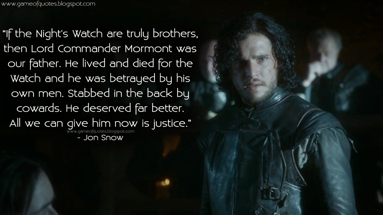 Lord commander quotes