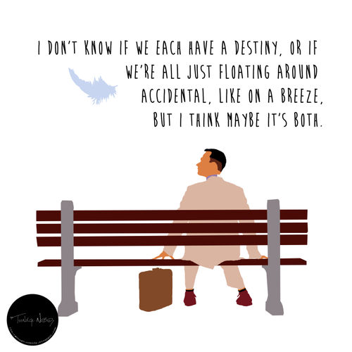 don t know if we each have a destiny  or if we re all just floating    Forrest Gump Quotes Wallpaper